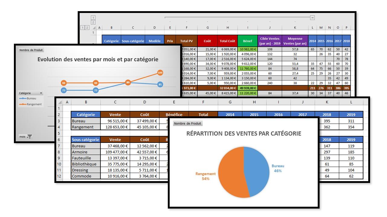 Formation bureautique réalisation Excel