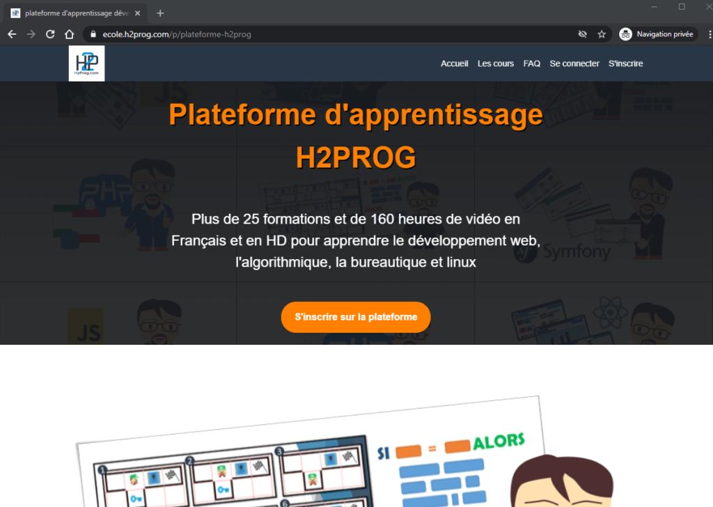 plateforme H2PROG