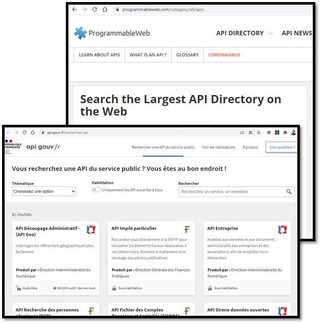 Exemples de sites avec API