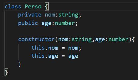 typescript class