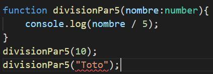 typescript fonction